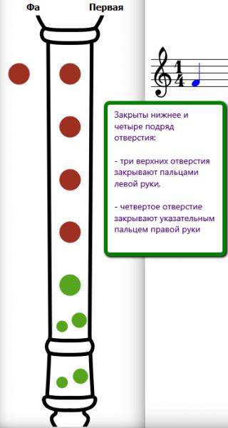 аппликатура фа блокфлейты